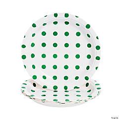 Green Polka Dot Dessert Plates - 8 Ct.