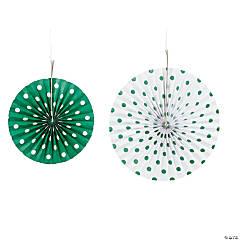 Green Polka Dot Hanging Fans