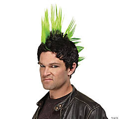 Green Punk Rocker Wig