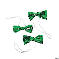 Green Sequin Bow Ties