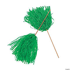 Green Spirit Cheer Pom-Poms