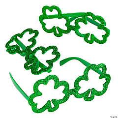 Green St. Patty's Day Shamrock Glasses