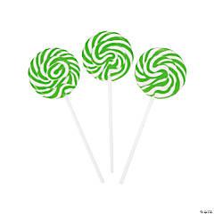 Green Swirl Pops
