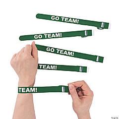 Green Team Spirit Whistle Slap Bracelets