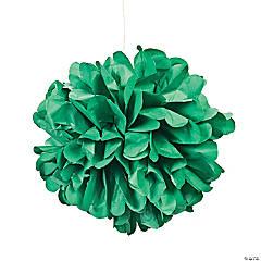 Green Tissue Pom-Pom Decorations