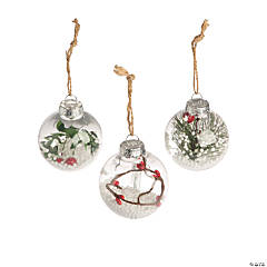 Greenery-Filled Ball Ornaments