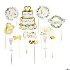 Greenery Wedding Photo Stick Props