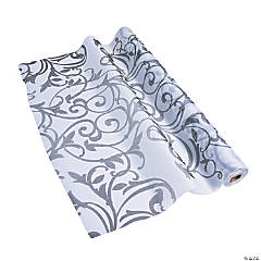 Grey Flourish Print Gossamer Roll