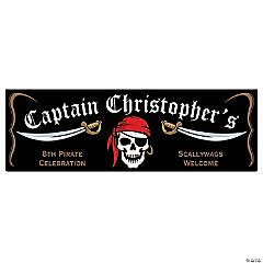 Grinning Pirate Custom Banner - Medium