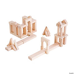 Guidecraft Unit Blocks, Set B - 56 Pieces