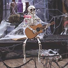 Guitar Playing Skeleton Halloween Decoration