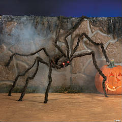 Hairy Spider with Light-Up Eyes Halloween Décor