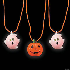 Halloween Blinking Necklaces Clip Strip