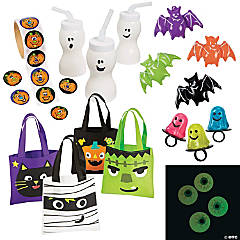 Halloween Boo Bag Kits with Cups for 12
