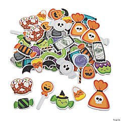 Halloween Candy Self-Adhesive Foam Shapes