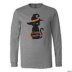 Halloween Cat Silhouette Adult's T-Shirt - XL