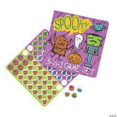 Halloween Cling Travel Games
