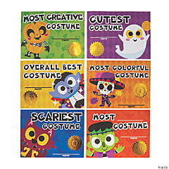 Halloween Costume Award Certificates
