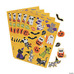 Halloween Costumed Pets Sticker Sheets