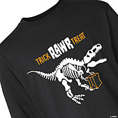 Halloween Dino Youth Long Sleeve T-Shirt - Extra Small