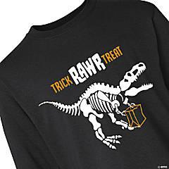 Halloween Dino Youth Long Sleeve T-Shirt - Medium