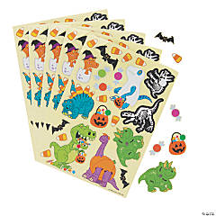 Halloween Dinosaur Sticker Sheets