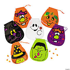 Halloween Drawstring Goody Bags - 72 Pack