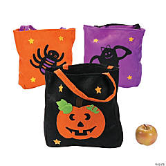 Halloween Felt Tote Bags