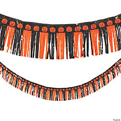 Halloween Fringe Garland Backdrop