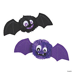 Halloween Fuzzy Plush Bat Bouncing Balls