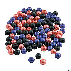Halloween Glass Pearl Bead Mix - 4mm
