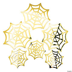 Halloween Gold Spider Web Wall Decorations