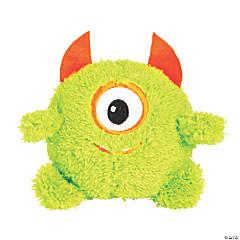 Halloween Green Plush Monsters - 12 Pc.