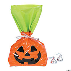 Halloween Jack-O'-Lantern Cellophane Bags