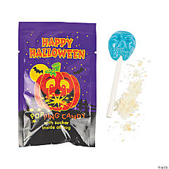 Halloween Lollipops with Popping Candy