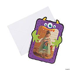 Halloween Monster Photo Holder Greeting Cards