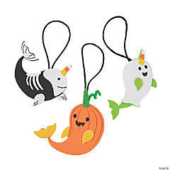 Halloween Narwhal Ornament Craft Kit