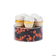 Halloween Orange & Black Fillable Cake Stand Kit