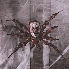 Halloween Spider Decoration With Skull Face
