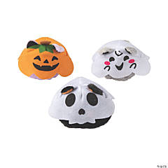 Halloween Stuffed Cats in Ghost Costumes