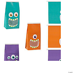 Halloween Tin Tie Treat Bags with Monster Mouth Window