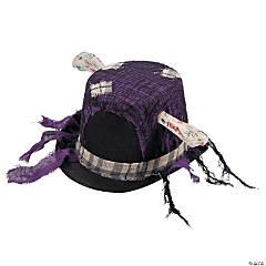 Halloween Top Hat with Bone