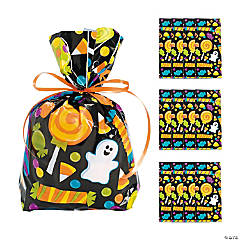 Halloween Treats Cellophane Bags