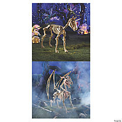 Halloween Unicorn & Dragon Skeleton Decorations