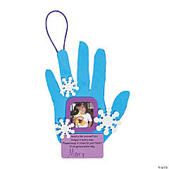 Handprint Snowflake Picture Frame Christmas Ornament Craft Kit