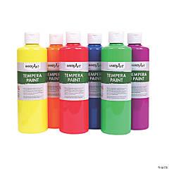 Handy Art® Fluorescent Tempera Paint, Pint, 6-Color Set