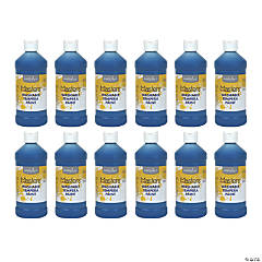 Handy Art® Little Masters™ Washable Tempera Paint, 16 oz, Blue, Pack of 12