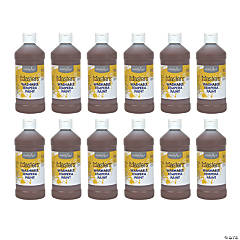 Handy Art® Little Masters™ Washable Tempera Paint, 16 oz, Brown, Pack of 12