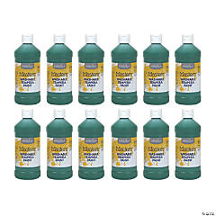 Handy Art® Little Masters™ Washable Tempera Paint, 16 oz, Green, Pack of 12
