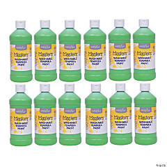 Handy Art® Little Masters™ Washable Tempera Paint, 16 oz, Light Green, Pack of 12